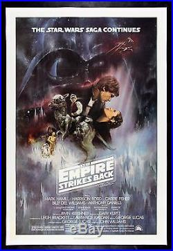 THE EMPIRE STRIKES BACK CineMasterpieces ORIGINAL MOVIE POSTER 1980 STAR WARS