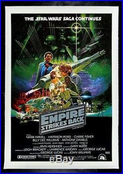 THE EMPIRE STRIKES BACK CineMasterpieces STAR WARS MOVIE POSTER AUSTRALIA 1980