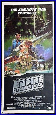 THE EMPIRE STRIKES BACK Original Daybill Movie Poster STAR WARS Noriyoshi Ohrai