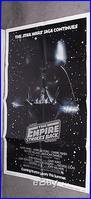 THE EMPIRE STRIKES BACK original 1980 ADVANCE one sheet poster EXCELLENT SHAPE