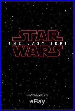 THE LAST JEDI CineMasterpieces ORIGINAL DS 1SH ADV MOVIE POSTER STAR WARS 2017