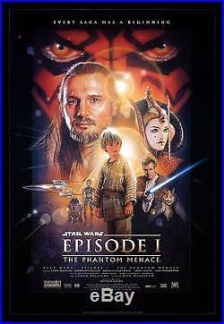 THE PHANTOM MENACE CineMasterpieces DS 1999 ORIGINAL MOVIE POSTER STAR WARS