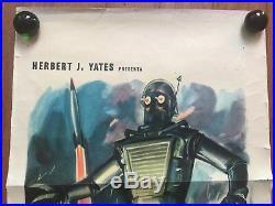 TOBOR Original Italian Locadina Movie Poster. 1954 Space Star Wars Sci Fi