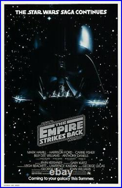 The Empire Strikes Back (1980) Original Advance Movie Poster Rolled