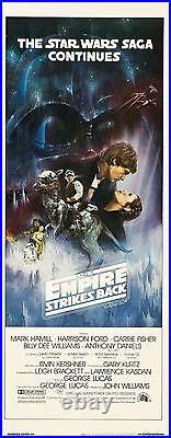 The Empire Strikes Back (1980) Original Insert Style A Movie Poster Rolled
