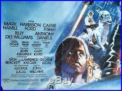 The Empire Strikes Back 1980 Original UK Quad Poster Linen Backed STAR WARS