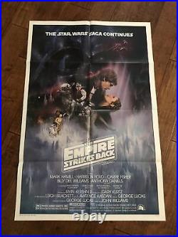 The Empire Strikes Back Mint Original A Style 1sheet Movie Poster Star Wars