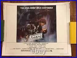 The Empire Strikes Back Original Style A Half Sheet Movie Poster- Star Wars