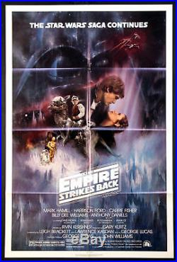 The Empire Strikes Back Star Wars 1980 Gwtw Style A Sheet Near Mint
