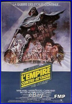 The Empire Strikes Back Star Wars / Lucas Original French Movie Poster