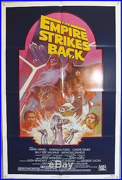 The Empire Strikes Back Star Wars Original American One Sheet Movie Poster