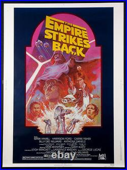 The Empire Strikes Back Star Wars Tom Jung Art R-1982 30x40 Near Mint Rolled