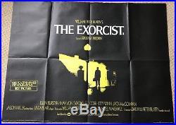 The Exorcist Original UK Quad Film Movie Poster