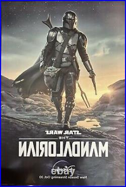The Mandalorian Original 27x40 DS Poster One Sheet RARE Star Wars Pedro Pascal