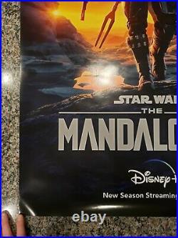 The Mandalorian Original 27x40 Poster One Sheet RARE Star Wars Pedro Pascal