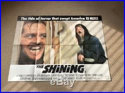 The Shining Original UK Quad Film Movie Poster. Jack Nicholson