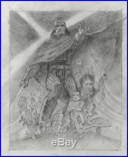 Tom Jung Original 19'' x 24'' Star Wars Empire Strikes Back Movie Poster Art