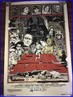 Tyler Stout Original STAR WARS Trilogy Set Mondo Poster Screen Print 150/850
