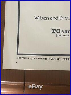 Vintage 1977 ORIGINAL! Star Wars Movie Poster One Sheet 27x41 #77/21 $1 rese
