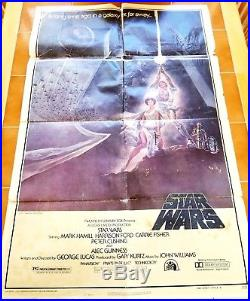 Vintage 1977 Star Wars Movie Poster One Sheet Style A 77/21 27x41 Original as-is