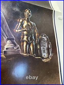 Vintage 1977 Star Wars One Sheet Style A Folded Poster Third Domestic 27x41