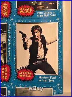 Vintage 1977 Star Wars Topps Series 1 Poster Original, Wrapper Redemption Rare