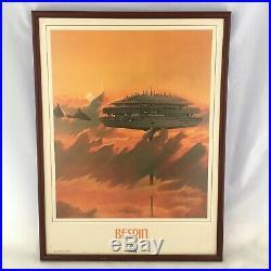 Vintage 1986 Star Wars Tours Lucasfilm Disney Framed Bespin Poster 18 x 24