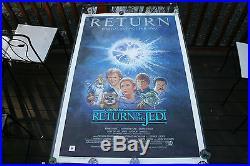 Vintage Original Star Wars Rolled Rotj #r850025 1985 Re-release 1 Sheet Poster
