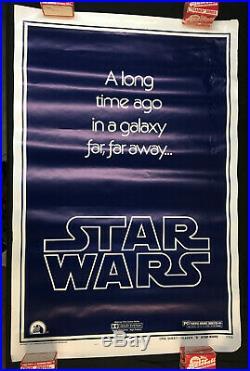 Vintage Original Star Wars Teaser B One Sheet Poster