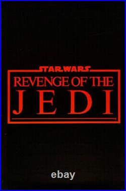 Vintage Poster Revenge of The Jedi 22x 34 Star Wars Collectible Poster Rare