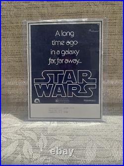 Vintage Star Wars Movie Promo Poster Rare Vintage Original Made In USA