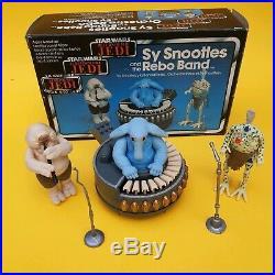 Vintage Star Wars Rebo Band Complete Trilogo Boxed W Original Flute, Mics Poster