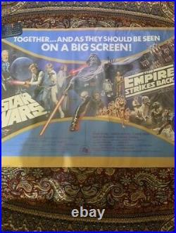 Vintage Star Wars THE EMPIRE STRIKES BACK 1980' Original Movie Poster Original