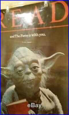Vintage YODA READ POSTER American Library Association Star Wars 83 Original