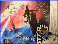 WOW Cast Signed STAR WARS RISE OF SKYWALKER Movie Poster withCOA & VIP Laminate
